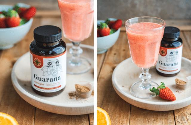 Koktajl truskawkowo-pomarańczowy z guaraną