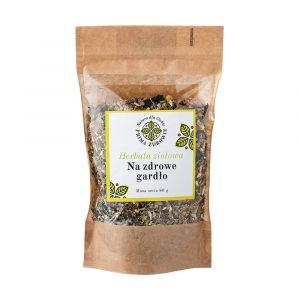 herbatka ziołowa na z zdrowe gardło